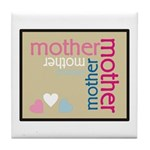 Mother Plaque with Hearts Mother's Tile Coaster