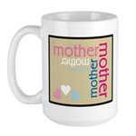 Mother Plaque with Hearts Mother's Large Mug