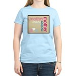 Mother Plaque with Hearts Mother's Women's Light T