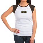 Golden Mom Name Gold Letters Women's Cap Sleeve T-