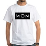 Dymo Black Label Me Mom Mother White T-Shirt