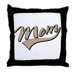 Baseball Swoosh Mom Mother's Throw Pillow