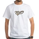 Baseball Swoosh Mom Mother's White T-Shirt