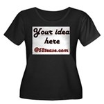 Personalized Customized Women's Plus Size Scoop Ne