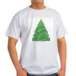 Celtic Christmas Tree Ash Grey T-Shirt