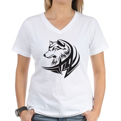 CafePress > T-shirts > Tribal Wolf Tattoo Shirt. Tribal Wolf Tattoo Shirt