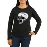 Screaming Skull Women's Long Sleeve Dark T-Shirt