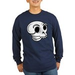 Funny Skull Long Sleeve Dark T-Shirt