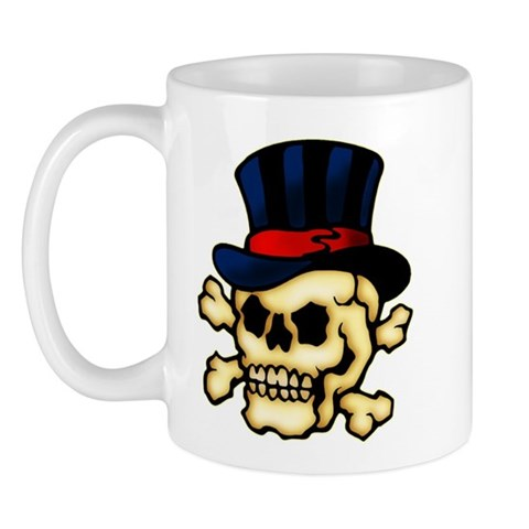 CafePress gt; Mugs gt; Skull in Top Hat Tattoo Art Mug. Skull in Top Hat Tattoo Art Mug