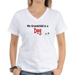 Dog Grandchild Women's V-Neck T-Shirt