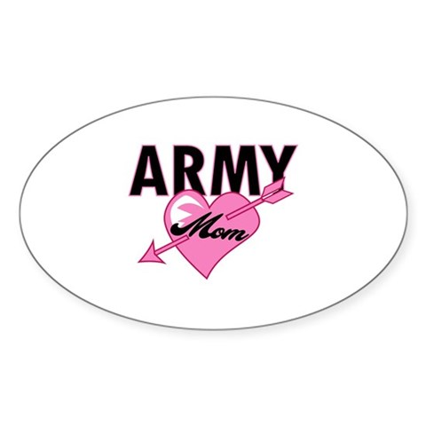 your soldier son or daughter with an Army Mom pink heart tattoo t-shirt.