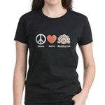 Peace Love Heart Beethoven Women's T-Shirt Black