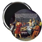 "Death of Socrates 2.25"" Magnet (10 pack)"