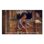 Cicero: God Nature Rectangle Sticker