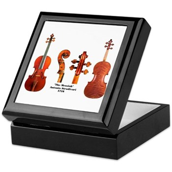 Stradivarius Violin Keepsake Box