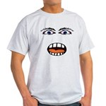 Shocked Cartoon Face Light T-Shirt