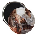 "Plato Aristotle Philosophy 2.25"" Magnet (10 pack)"