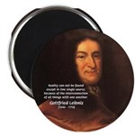 "Gottfried Leibniz Metaphysics 2.25"" Magnet (100 pa"