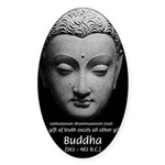 Buddhist Religion: Gift of Truth Oval Sticker