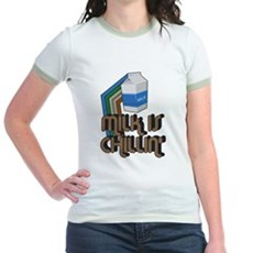 Milk is Chillin' Jr Ringer T-Shirt