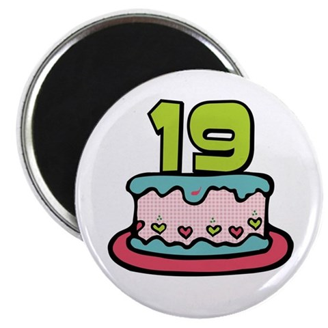 birthday cake cartoon images. 19th Birthday Cake Magnet