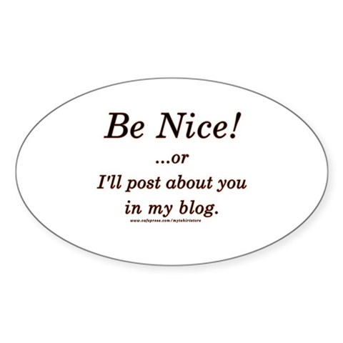 Funny Blogger Joke Decal