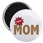 "New Mom Mother First Time 2.25"" Magnet (10 pack)"