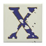 Distressed Blue Letter X Tiles