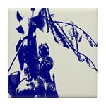Spanish Blue Letter Maid of Orleans Tile