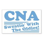 CNA Sweatin' With The Oldies Rectangle Sticker