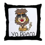 Peace Loving Hippy Throw Pillow