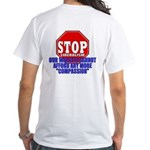 Stop Liberalism Conservative White T-Shirt