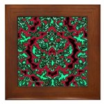 Psychedelic Damask Framed Tile