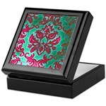 Magenta Damask Keepsake Box