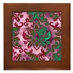 Jewel Damask Framed Tile