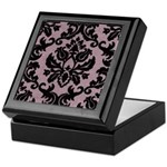 Purple Velvet Damask Keepsake Box