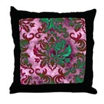 Jewel Damask Throw Pillow