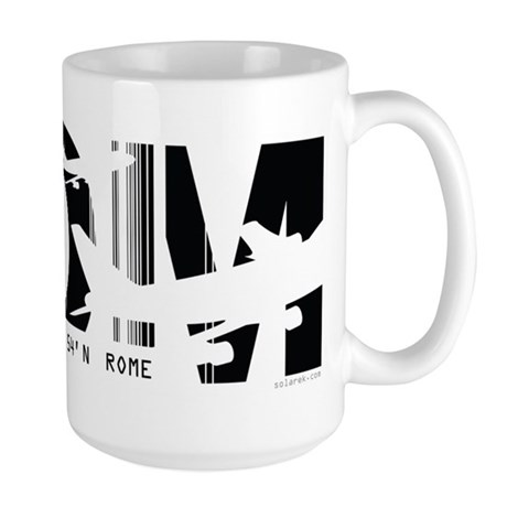 Rome Italy ROM Air Wear Airport Large Mug