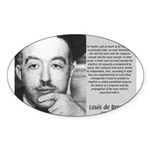 de Broglie: Quantum Waves Oval Sticker