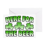 Here for the Beer Shamrock Greeting Card