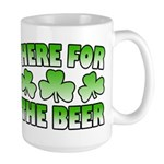 Here for the Beer Shamrock Large Mug