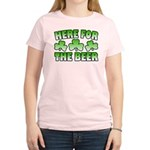 Here for the Beer Shamrock Women's Light T-Shirt