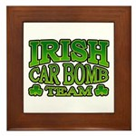 Irish Car Bomb Team Shamrock Framed Tile
