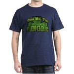Kiss Me I'm Single Shamrock Dark T-Shirt