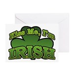 Kiss Me I'm Irish Shamrock Greeting Cards (Pk of 1