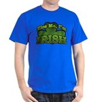 Kiss Me I'm Irish Shamrock Dark T-Shirt