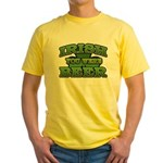 Irish You Were Beer Shamrock Yellow T-Shirt