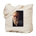 Charles Darwin: God Creation Tote Bag