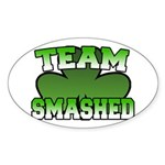 Team Smashed Oval Sticker