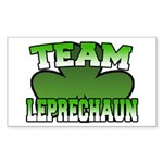 Team Leprechaun Rectangle Sticker